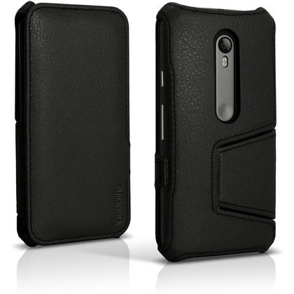 iGadgitz PU Leather Case Cover for Motorola Moto G 3rd Generation  XT1540 + Stand + Auto Sleep Wake + Screen Protector Thumbnail 2
