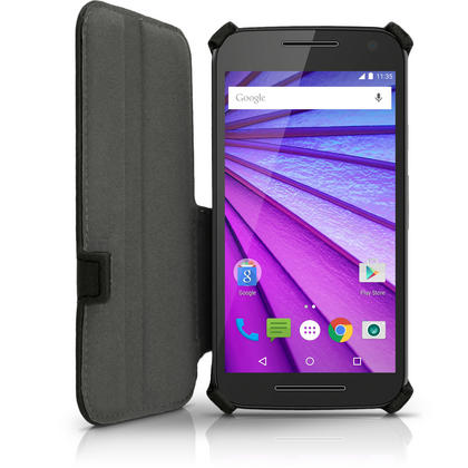 iGadgitz PU Leather Case Cover for Motorola Moto G 3rd Generation  XT1540 + Stand + Auto Sleep Wake + Screen Protector Thumbnail 3