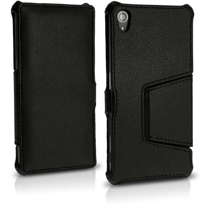 iGadgitz Folio PU Leather Case Cover for Sony Xperia Z5 E6603 with Multi-Angle Viewing Stand + Screen Protector Thumbnail 2
