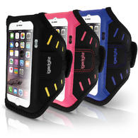 "iGadgitz Water Resistant Lightweight Neoprene Sports Jogging Gym Armband for Apple iPhone 6 & 6S 4.7"" with Key Slot"