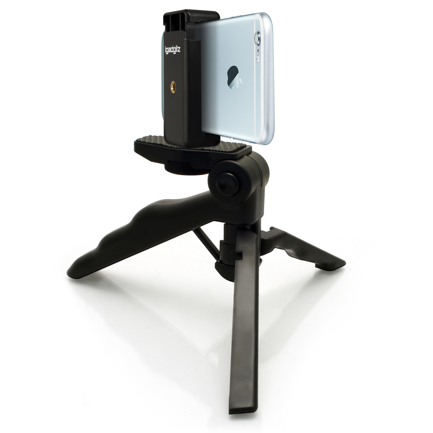igadgitz 2 in 1 pistol grip stabilizer and mini table top stand tripod universal smartphone. Black Bedroom Furniture Sets. Home Design Ideas