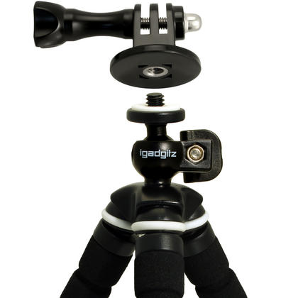 iGadgitz Small Universal Foam Mini Tripod and Adaptor Mount for GoPro Hero6 Black, Fusion, Hero5 Black, Hero5 Session, Hero4, Hero3+, Hero3, Hero2, Hero1, Hero Session Thumbnail 5