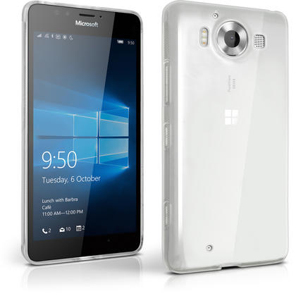 iGadgitz Glossy TPU Gel Skin Case Cover for Microsoft Lumia 950 + Screen Protector Thumbnail 1