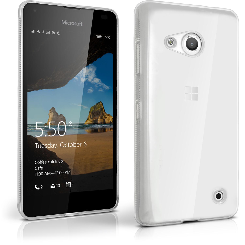 iGadgitz Glossy TPU Gel Skin Case Cover for Microsoft Lumia 550 + Screen Protector