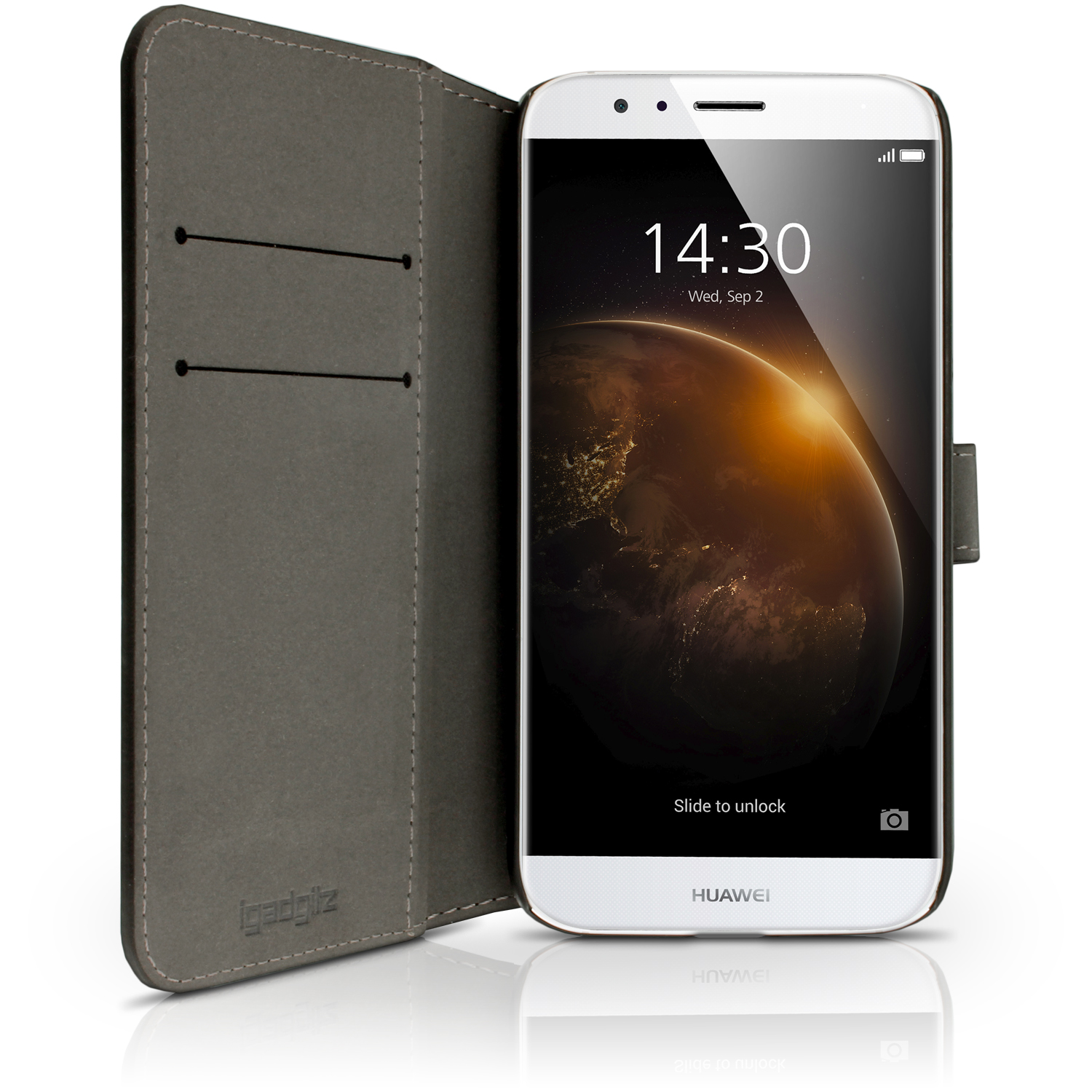 Details about PU Leather Skin Wallet Case for Huawei G8 Flip Stand Cover +  Screen Protector