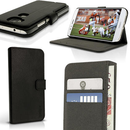 iGadgitz Premium Wallet Flip PU Leather Case Cover for Huawei G8 With Stand + Card Slots + Screen Protector Thumbnail 1