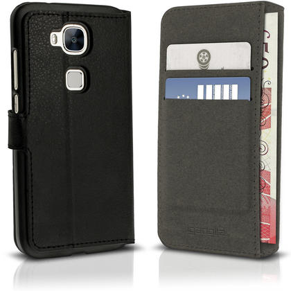 iGadgitz Premium Wallet Flip PU Leather Case Cover for Huawei G8 With Stand + Card Slots + Screen Protector Thumbnail 2