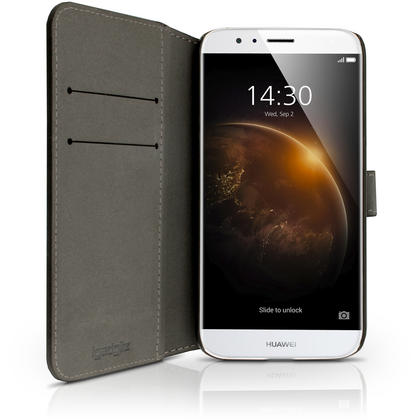 iGadgitz Premium Wallet Flip PU Leather Case Cover for Huawei G8 With Stand + Card Slots + Screen Protector Thumbnail 3