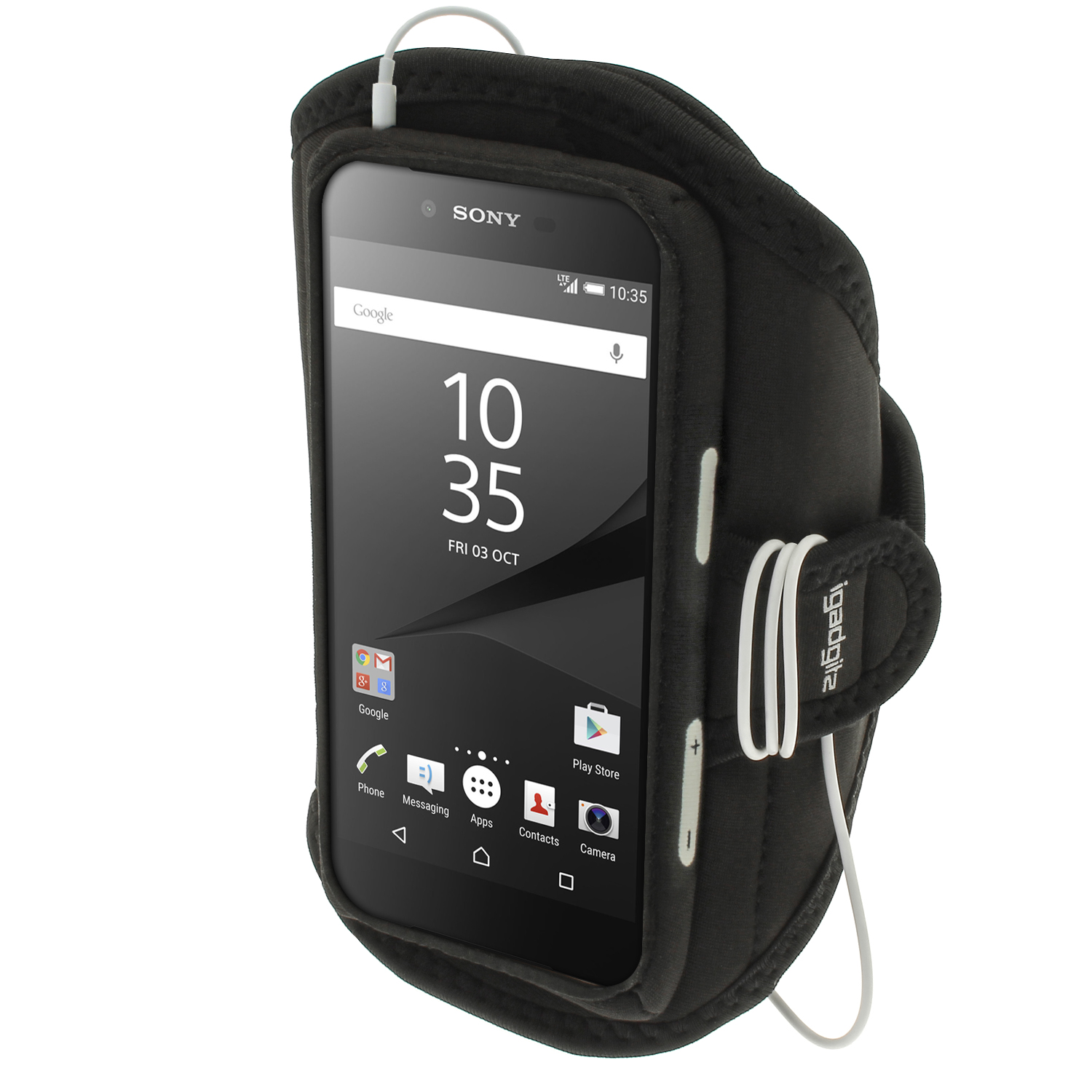 iGadgitz Water Resistant Sports Jogging Gym Armband for Sony Xperia Z5 E6603 E6653