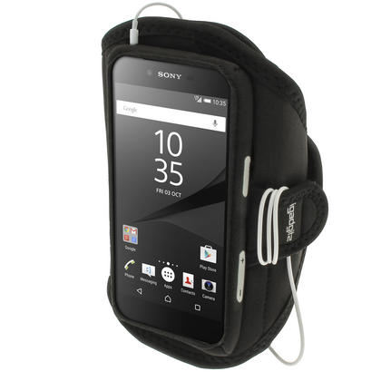 iGadgitz Water Resistant Sports Jogging Gym Armband for Sony Xperia Z5 E6603 E6653 Thumbnail 1