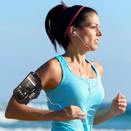 iGadgitz Water Resistant Sports Jogging Gym Armband for Sony Xperia Z5 E6603 E6653 Thumbnail 2