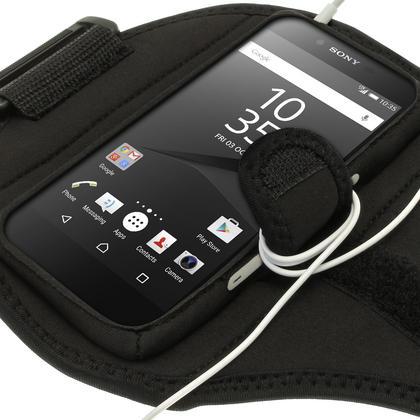 iGadgitz Water Resistant Sports Jogging Gym Armband for Sony Xperia Z5 E6603 E6653 Thumbnail 4