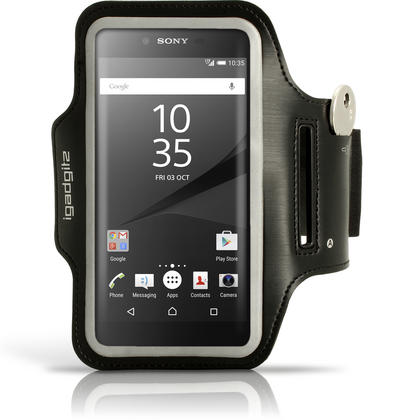 iGadgitz Reflective Anti-Slip Sports Jogging Gym Armband for Sony Xperia Z5 E6603 E6653 with Key Slot Thumbnail 1