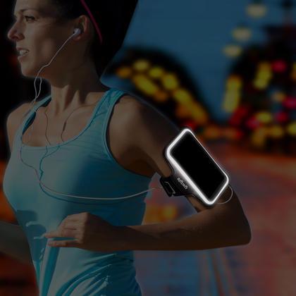 iGadgitz Reflective Anti-Slip Sports Jogging Gym Armband for Sony Xperia Z5 E6603 E6653 with Key Slot Thumbnail 2
