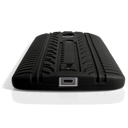 iGadgitz Black Tyre Tread Silicone Rubber Gel Skin Case Cover for Motorola Moto X Play XT1562 + Screen Protector Thumbnail 2