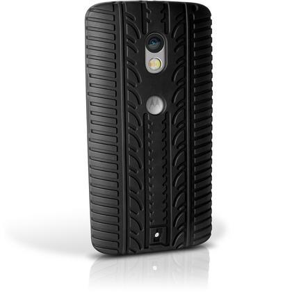 iGadgitz Black Tyre Tread Silicone Rubber Gel Skin Case Cover for Motorola Moto X Play XT1562 + Screen Protector Thumbnail 5