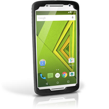 iGadgitz Black Tyre Tread Silicone Rubber Gel Skin Case Cover for Motorola Moto X Play XT1562 + Screen Protector Thumbnail 6