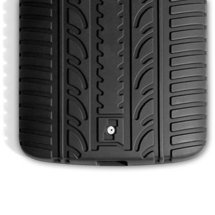 iGadgitz Black Tyre Tread Silicone Rubber Gel Skin Case Cover for Motorola Moto X Play XT1562 + Screen Protector Thumbnail 7