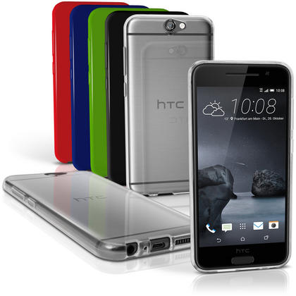 iGadgitz Glossy TPU Gel Skin Case Cover for HTC One A9 (2015) + Screen Protector Thumbnail 1