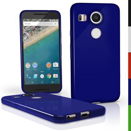 iGadgitz Glossy TPU Gel Skin Case Cover for LG Nexus 5X + Screen Protector Thumbnail 4