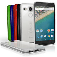 iGadgitz Glossy TPU Gel Skin Case Cover for LG Nexus 5X + Screen Protector
