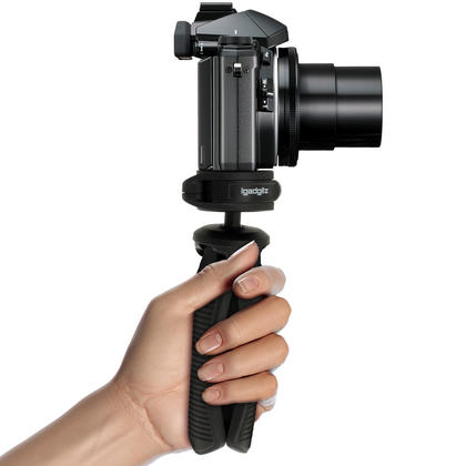iGadgitz PT310 Mini Lightweight Table Top Stand Tripod and Grip Stabilizer for Digital Camera, DSLR, & Camcorder ? Black Thumbnail 7