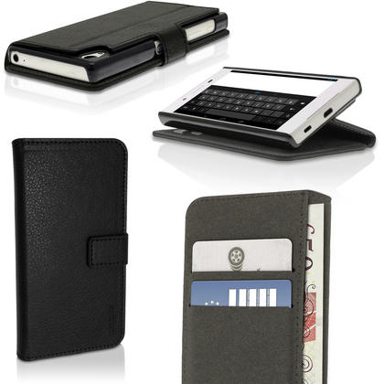 iGadgitz Wallet Flip PU Leather Case Cover for Sony Xperia Z5 E6603 with Card Slots + Stand + Screen Protector Thumbnail 1