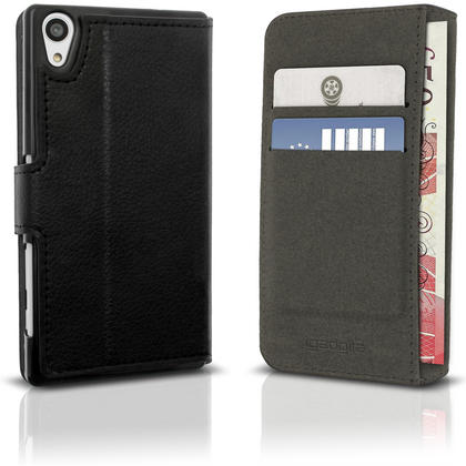 iGadgitz Wallet Flip PU Leather Case Cover for Sony Xperia Z5 E6603 with Card Slots + Stand + Screen Protector Thumbnail 2