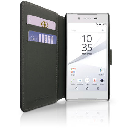 iGadgitz Wallet Flip PU Leather Case Cover for Sony Xperia Z5 E6603 with Card Slots + Stand + Screen Protector Thumbnail 3