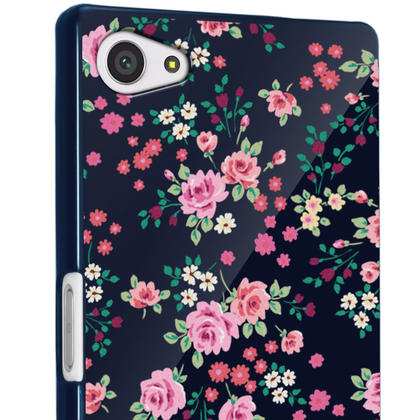 iGadgitz Pink Rose Floral Pattern PC Hard Case Cover Shell for Sony Xperia Z5 Compact E5803 E5823 + Screen Proctector Thumbnail 3
