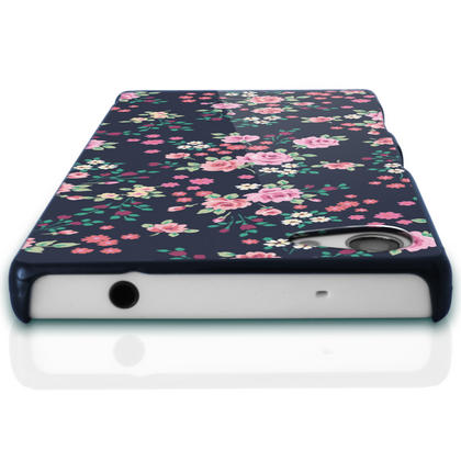 iGadgitz Pink Rose Floral Pattern PC Hard Case Cover Shell for Sony Xperia Z5 Compact E5803 E5823 + Screen Proctector Thumbnail 2