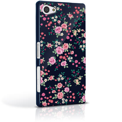 iGadgitz Pink Rose Floral Pattern PC Hard Case Cover Shell for Sony Xperia Z5 Compact E5803 E5823 + Screen Proctector Thumbnail 4
