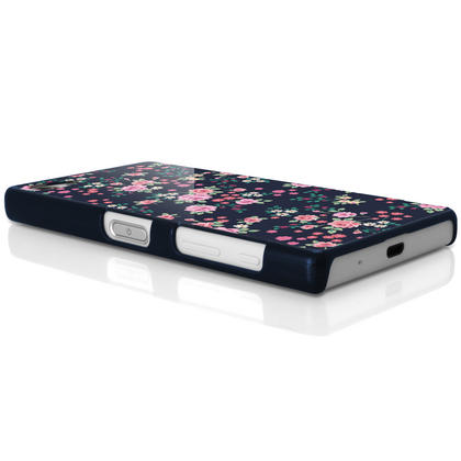 iGadgitz Pink Rose Floral Pattern PC Hard Case Cover Shell for Sony Xperia Z5 Compact E5803 E5823 + Screen Proctector Thumbnail 6