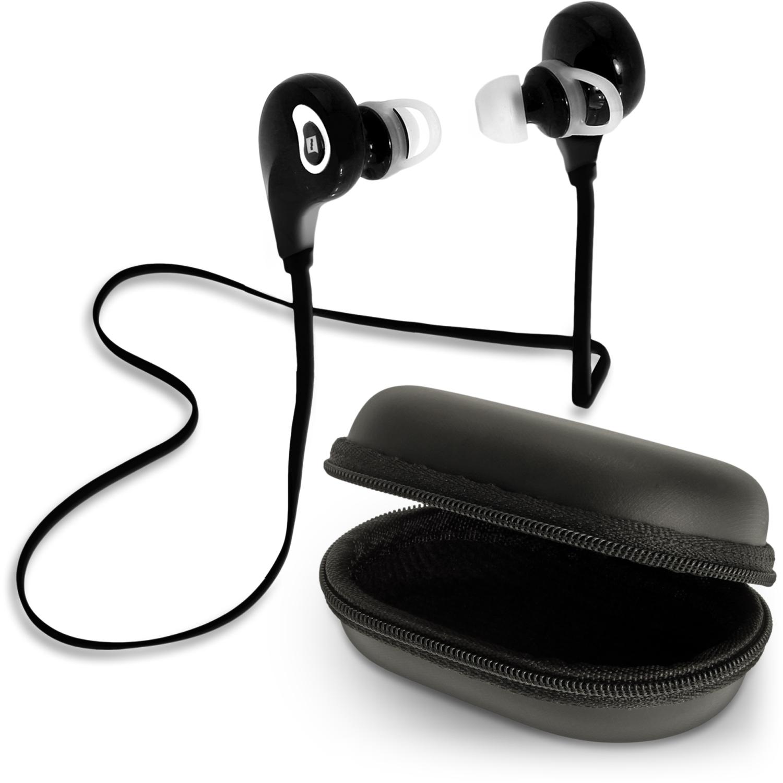 iGadgitz IGX-470S Wireless Bluetooth 4.1 Lightweight Stereo Sports In-ear Earphones Headphones with Case & Ear Hooks