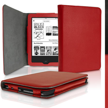 iGadgitz PU Leather Case Cover for Tolino Vision 3 HD, Vision 2 &  Vision 1 with Sleep Wake Thumbnail 2