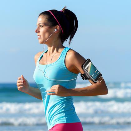 iGadgitz Reflective Anti-Slip Sports Jogging Gym Armband for LG Nexus 5X 2015 with Key Slot Thumbnail 2