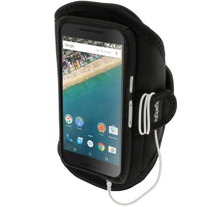 iGadgitz Water Resistant Sports Jogging Gym Armband for LG Nexus 5X 2015 Thumbnail 1