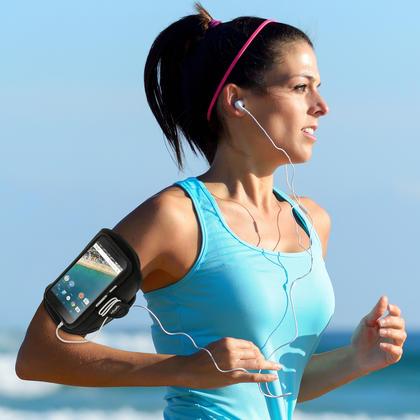 iGadgitz Water Resistant Sports Jogging Gym Armband for LG Nexus 5X 2015 Thumbnail 2