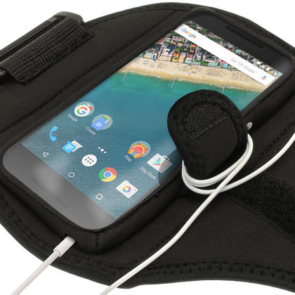 iGadgitz Water Resistant Sports Jogging Gym Armband for LG Nexus 5X 2015 Thumbnail 3