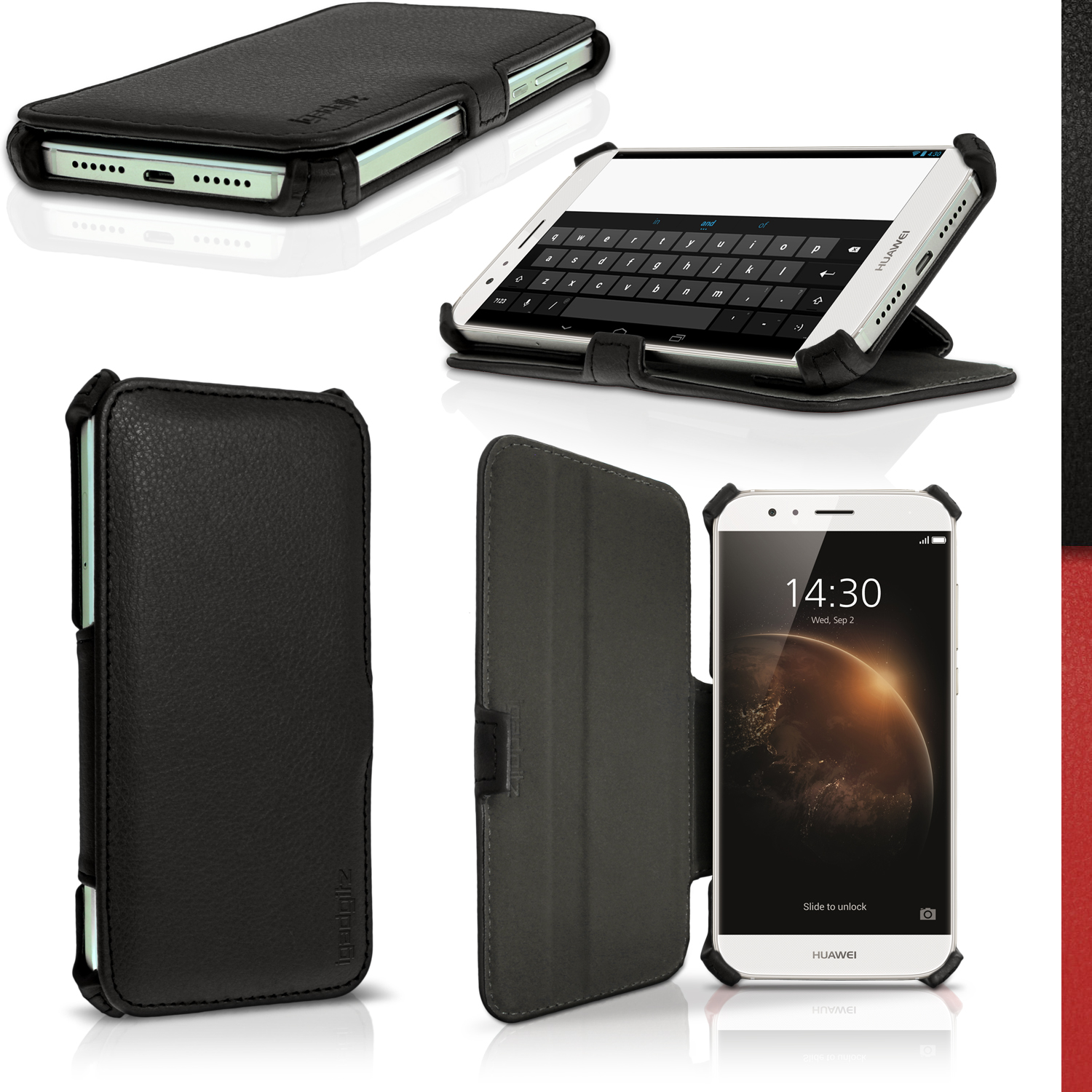 Details about PU Leather Flip Case for Huawei G8 Stand Book Folio Cover +  Screen Protector