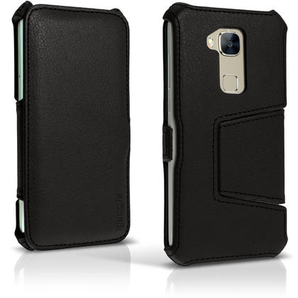 iGadgitz Premium Folio Black PU Leather Case Cover for Huawei G8 with Multi-Angle Viewing Stand + Screen Protector Thumbnail 2