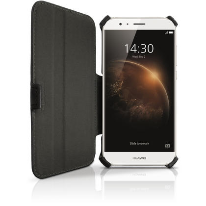iGadgitz Premium Folio Black PU Leather Case Cover for Huawei G8 with Multi-Angle Viewing Stand + Screen Protector Thumbnail 3