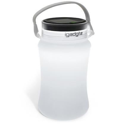 iGadgitz Lumin Solar Glow 100lm USB Rechargeable & Solar LED Lantern Waterproof Storage Bottle Light + 2 Year Warranty Thumbnail 7