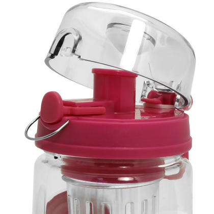 CampTeck 1 Litre 1000ml Fruit Infuser Water Bottle (BPA Free Tritan Plastic) with Leak Proof Lid + Lock & Carry Handle Thumbnail 3