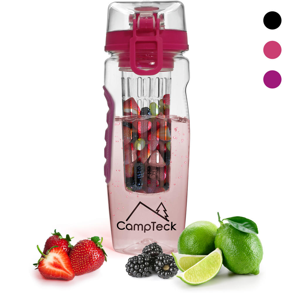 Campteck 1 litre 1000ml fruit infuser water bottle bpa for Perfect drink pro scale