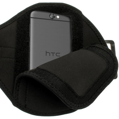 iGadgitz Water Resistant Black Sports Jogging Gym Armband for HTC One A9 (2015) Thumbnail 4
