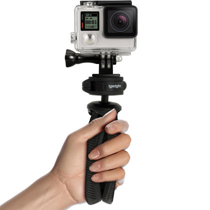 iGadgitz PT310 Mini Table Top Stand Tripod and Grip Stabilizer + Adaptor Mount for GoPro Hero6 Black, Fusion, Hero5 Black, Hero5 Session, Hero4, Hero3+, Hero3, Hero2, Hero1, Hero Session Thumbnail 7