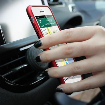 iGadgitz Air Vent Magnetic Universal Car Mount Mobile Phone Holder Cradle (Apple HTC Samsung  Motorola Sony Google etc.) Thumbnail 3