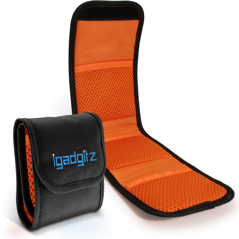 iGadgitz 3 Pocket Slot Bag Pouch Holder Storage Case for SLR DSLR Camera Lens Filters