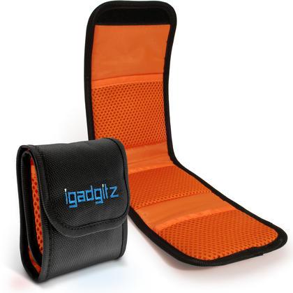 iGadgitz 3 Pocket Slot Bag Pouch Holder Storage Case for SLR DSLR Camera Lens Filters Thumbnail 1